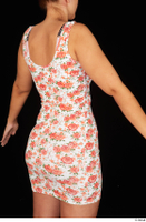 Jennifer Mendez casual dressed floral dress trunk upper body 0006.jpg