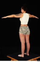 Jennifer Mendez camo shorts casual dressed sandals shoes standing t poses tank top whole body 0004.jpg
