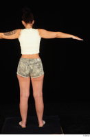 Jennifer Mendez camo shorts casual dressed sandals shoes standing t poses tank top whole body 0005.jpg