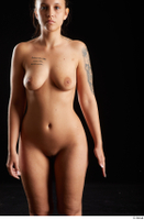 Jennifer Mendez  1 arm flexing front view nude 0001.jpg