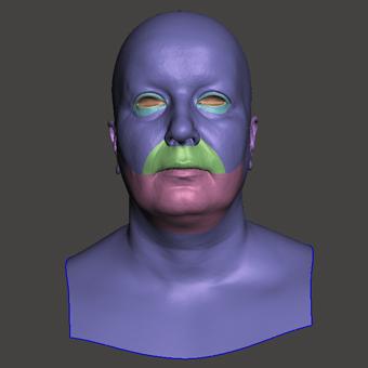 Retopologized 3D Head scan of Monika