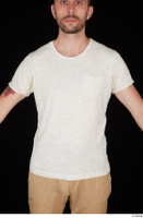 Trent casual dressed upper body white t shirt 0001.jpg