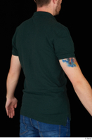 Trent casual dressed green t shirt upper body 0006.jpg
