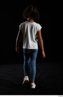 Elissa  1 back view blue jeans casual dressed walking white sneakers white t shirt whole body 0003.jpg