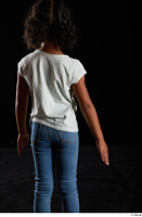 Elissa  1 arm back view casual dressed flexing white t shirt 0001.jpg