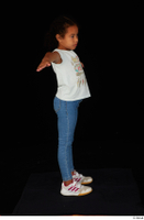 Elissa blue jeans casual dressed sneakers standing t poses white t shirt whole body 0007.jpg