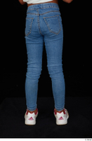 Elissa blue jeans dressed leg lower body sneakers 0005.jpg