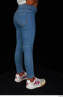 Elissa blue jeans dressed leg lower body sneakers 0006.jpg