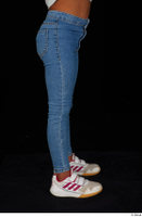 Elissa blue jeans dressed leg lower body sneakers 0007.jpg