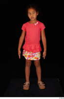 Elissa casual dressed pink t shirt shoes skirt standing whole body 0001.jpg