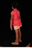 Elissa casual dressed pink t shirt shoes skirt standing whole body 0004.jpg