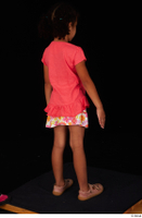 Elissa casual dressed pink t shirt shoes skirt standing whole body 0006.jpg
