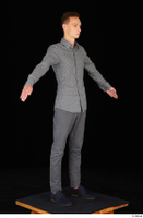 Alessandro Katz black shoes business dressed grey shirt grey trousers standing whole body 0016.jpg