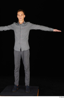 Alessandro Katz black shoes business dressed grey shirt grey trousers standing t poses whole body 0001.jpg