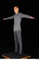 Alessandro Katz black shoes business dressed grey shirt grey trousers standing t poses whole body 0002.jpg