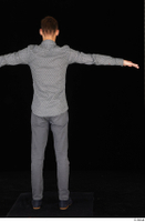 Alessandro Katz black shoes business dressed grey shirt grey trousers standing t poses whole body 0005.jpg