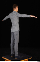 Alessandro Katz black shoes business dressed grey shirt grey trousers standing t poses whole body 0006.jpg