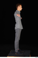 Alessandro Katz black shoes business dressed grey shirt grey trousers standing t poses whole body 0007.jpg