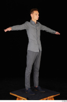 Alessandro Katz black shoes business dressed grey shirt grey trousers standing t poses whole body 0008.jpg