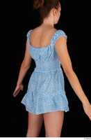 Stacy Cruz blue short dress casual dressed trunk upper body 0006.jpg