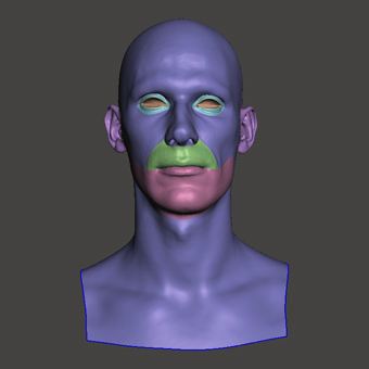 Retopologized 3D Head scan of JiriV