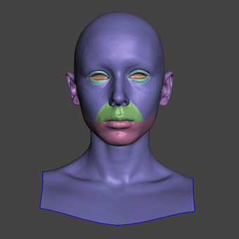 3D Retopologised Heads