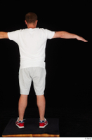 Louis dressed grey shorts red sneakers sports standing t poses white t shirt whole body 0005.jpg