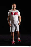 Louis  2 front view grey shorts red sneakers sports white t shirt whole body 0002.jpg