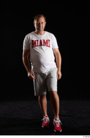 Louis  2 front view grey shorts red sneakers sports white t shirt whole body 0003.jpg