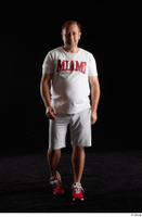 Louis  2 front view grey shorts red sneakers sports white t shirt whole body 0004.jpg