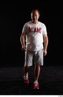 Louis  2 front view grey shorts red sneakers sports white t shirt whole body 0006.jpg