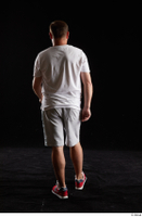Louis  2 back view grey shorts red sneakers sports white t shirt whole body 0001.jpg