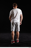 Louis  2 back view grey shorts red sneakers sports white t shirt whole body 0002.jpg