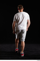 Louis  2 back view grey shorts red sneakers sports white t shirt whole body 0003.jpg