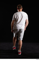 Louis  2 back view grey shorts red sneakers sports white t shirt whole body 0004.jpg