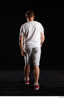 Louis  2 back view grey shorts red sneakers sports white t shirt whole body 0005.jpg
