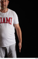 Louis  2 arm dressed flexing front view sports white t shirt 0001.jpg