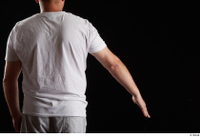 Louis  2 arm back view dressed flexing sports white t shirt 0002.jpg