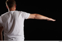 Louis  2 arm back view dressed flexing sports white t shirt 0003.jpg