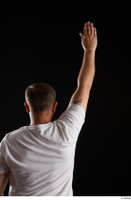 Louis  2 arm back view dressed flexing sports white t shirt 0005.jpg