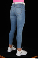 Vinna Reed blue jeans casual dressed leg lower body white sneakers 0006.jpg