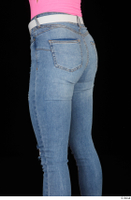 Vinna Reed blue jeans casual dressed thigh white belt 0004.jpg