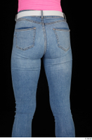 Vinna Reed blue jeans casual dressed thigh white belt 0005.jpg
