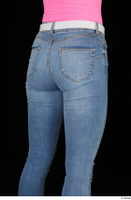 Vinna Reed blue jeans casual dressed thigh white belt 0006.jpg