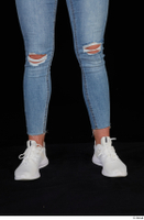 Vinna Reed blue jeans calf casual dressed white sneakers 0001.jpg