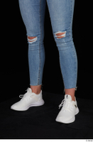 Vinna Reed blue jeans calf casual dressed white sneakers 0002.jpg