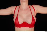 Vinna Reed breast chest lingerie red bra underwear 0001.jpg