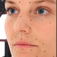 Retopologized 3D Head scan of MarketaP Source Images