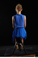 Sarah Kay  1 blue dress brown high heels casual dressed sitting whole body 0003.jpg