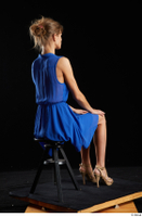 Sarah Kay  1 blue dress brown high heels casual dressed sitting whole body 0004.jpg